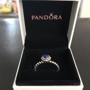 Birthstone PANDORA ring